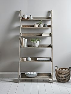 Rustic Wooden Ladder Shelf - Wide - Home Storage Units - Drawers, Ladders & Shelves - Home Storage Solutions Luxury Home Furniture, Selling Furniture, Living Furniture, Home Office Furniture, Home Office Decor, Rustic Furniture, Furniture Decor, Furniture Movers, Furniture Storage