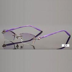 Fashion Eyeglasses B002 Diamond Trimming Cutting Rimless Eyeglasses. Prescription  Glasses OnlineGlasses FramesEye ... df64afc2a38a