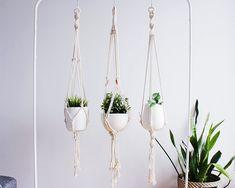 Macrame Plant Hanger, Hanging Planter, Indoor by freefille on Etsy https://www.etsy.com/listing/573132101/macrame-plant-hanger-hanging-planter