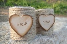 love these twine votives...see more rustic decor by PNZ Designs on the blog and enter to win a gift card!!! http://sweetvioletbride.com/2012/06/rustic-wedding-decor-pnz-designs-gift-card-giveaway/
