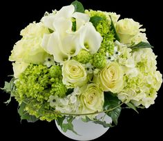 Spring White Classic | Winston Flowers wedding flowers calla lillies white roses hydrangeas #pensacolabeachbridalbliss