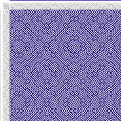 draft image: Threading Draft from Divisional Profile, Tieup: Crackle Design Project, Draft #13476, 8S, 8T