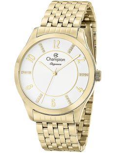 1dd0a304249 Relógio Champion Elegance Feminino Dourado CN27698H