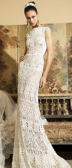 Find Wedding Dresses by Yolancris thanks to our search engine. Discover the latest tips and trends in Wedding Dresses by Yolancris. Crochet Wedding Dresses, Bridal Dresses, Beautiful Gowns, Beautiful Outfits, Wedding Bride, Wedding Gowns, Diy Wedding, Looks Vintage, Crochet Fashion