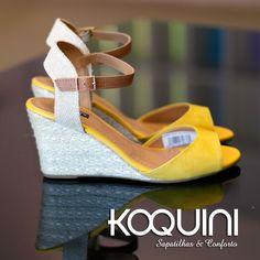 Na cor do verão, da alegria e do conforto Compre Online: http://koqu.in/1NHVvAu #koquini #sapatilhas #euquero #anabela