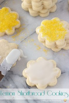 Lemon Shortbread Cookies | Cooking on the Front Burner #dessert