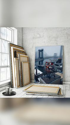 Beautiful Landscape Wallpaper, Beautiful Landscapes, Manhattan Bridge, Photo Canvas, Turntable, Canvas Wall Art, Cities, Home Decor, Record Player