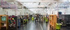 TextielLab in TextielMuseum. Werkplaats in textiel.