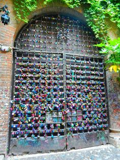 love locks at Juliet's balcony in Verona Recommended by http://www.londonlocks.com/ London 's Locksmith.