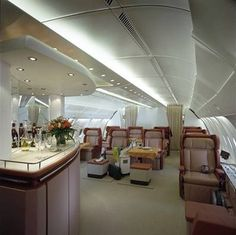 inside aircraft cabin photos | A380 Interior as planned by Emirates (Business Class)