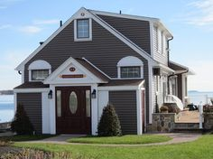 Siding traditional exterior.  Certainteed Sable Brown.