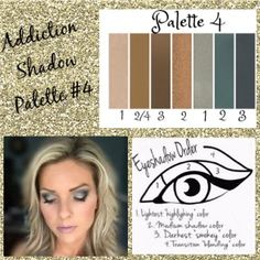 Palette #4 with Eyeshadow Order Guide! Take it from serene to extreme with seven crease-resistant, fade-resistant, long-wearing, buildable colors! Now available in 5 amazing color palettes!