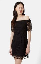 Topshop Off the Shoulder Lace Dress