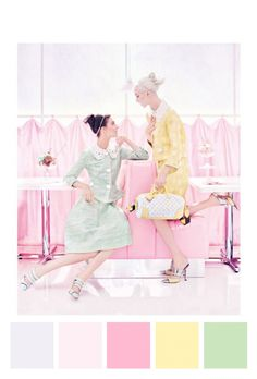 Louis Vuitton Spring.. pastels