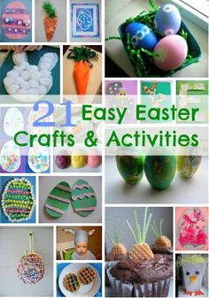 21 Easy Easter Crafts and Activities holiday, easter idea, easter crafts, easi easter, fun, kids, activ, spring, 21 easi