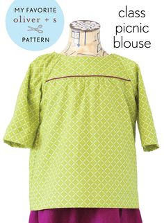 Courtney from Sweeter Than Cupcakes is stopping by to tell us about her favorite Oliver + S pattern, the Class Picnic Blouse.