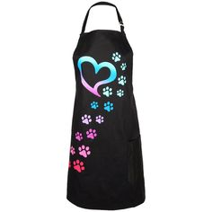 One adorable set of paws is all it takes to tug your heartstrings! Let everyone know the quickest way to your heart with this handy, cotton adjustable apron. Featuring a front pocket to store all of your kitchen necessities -- including dog treats!