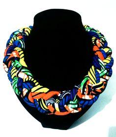 Ankara Fabric Necklace