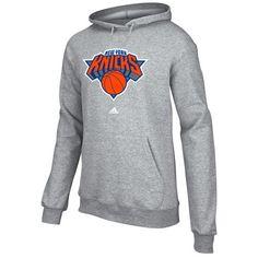 a9cd9b707b6 adidas New York Knicks Full Primary Logo Hoodie - Ash New York Knicks