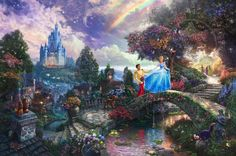 Title: Cinderella Wishes Upon a Dream Collection: Disney Dreams Painted: 2009 Published: 2009 Style: Narrative Panorama Classification: Thomas Kinkade Original Limited Edition: Available