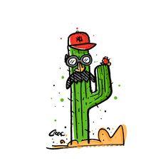 """Check out my @Behance project: """"Señor cara de Cactus"""" https://www.behance.net/gallery/54754111/Senor-cara-de-Cactus"""