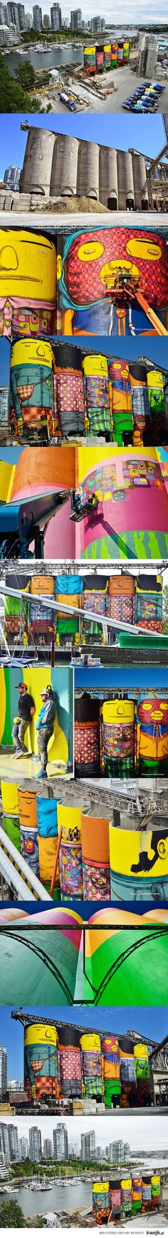 Vancouver, Granville Island, by brothers Os Gemos