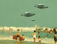 trippy psychedelic nature beach alien UFO ET Ovni Arte Sci Fi, Sci Fi Art, Aliens And Ufos, Ancient Aliens, Alien Tumblr, Paranormal, Illustrations, Illustration Art, Art Science Fiction