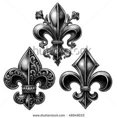 Hand drawn fleur de lis set by Tairy Greene, via ShutterStock