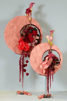 Deco Floral, Arte Floral, Floral Design, Contemporary Flower Arrangements, Creative Flower Arrangements, Paper Mache Crafts, Resin Crafts, Paper Flower Wall, Paper Flowers
