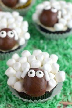 Receta Cupcakes Ovejitas 3
