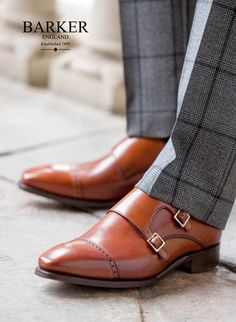 mens monk strap shoes | get-the-look-brown-double-monk-strap-shoes-from-barker-shoes.jpg