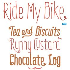 Ride My Bike is particularly lively. Playful and irregular, it is a typeface with a sassy, streetwise attitude and a mischievous smile. #fonts #type