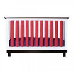 Navy & Red - These PureSafety Vertical Crib Liners from Go Mama Go Designs make your nursery look great and are approved by doctors! Baby Bedding has never looked so good or been so safe! Red Nursery, Baby Bedding, Doctors, Cribs, Make It Yourself, Navy, Furniture, Design, Home Decor