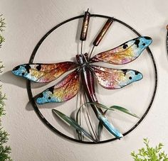 Dragonfly Wall Decor flame finished dragonfly disc | wonderful garden | pinterest