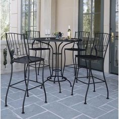 Outdoor Woodard Aurora Bar Bistro Set - Seats 4 - WD591