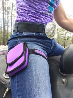 The Horse Holster is the safest place to keep your cell phone, and more, while riding your horse!  Buy at www.silverspurequine.ca