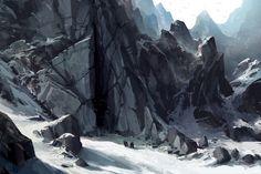 Mountain Enterance, Eric VanAllen on ArtStation at https://www.artstation.com/artwork/qbaJz