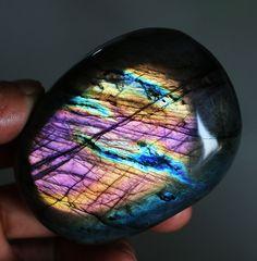 271g Natural Labradorite Crystal Rough Polished rock From Madagascar K117