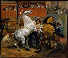 Horace Vernet (French, 1789–1863). The Start of the Race of the Riderless Horses, 1820. The Metropolitan Museum of Art, New York. Catharine Lorillard Wolfe Collection, Bequest of Catharine Lorillard Wolfe, 1887 (87.15.47) | Races of riderless horses were a highlight of Rome's Carnival, held each February before Lent. #horses