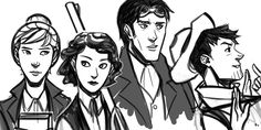 Alloy of Law crew, by exmakina on tumblr