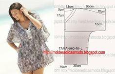 Tunic Easy to Sew-Diy Found on moldesedicasmoda.blogspot.pt
