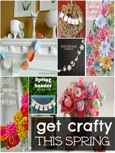 Spring Crafts featured by Wait Til Your Father Gets Home! #spring #crafts #DIY #color