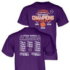 897e90c4 Clemson Tigers 2018-2019 Football National Champions Purple Short Sleeve T- Shirt #Blue84