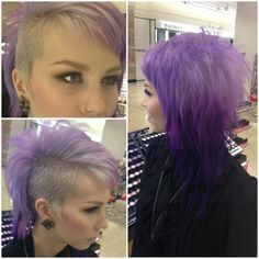 Perfect Sidecuts. I feel like I am doing this the reverse way, growing my hair out where other people originally have the longer hair and buzz off half.  :P