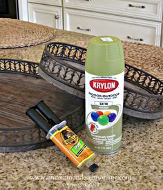 I could use this in the bathroom or the kitchen. How To Make a Tiered Vintage Tray