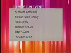 The Family Fun Continues At The Abilene Public Library - BigCountryHomepage.com
