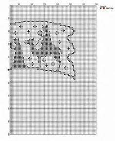 Schema su carta a quadretti per realizzare la stella cometa fuoriporta a uncinetto filet.