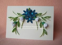 Paper s beauty Quilling Videos, Arte Quilling, Quilling Jewelry, Quilling Techniques, Quilling Cards, Quilling Flowers Tutorial, Paper Quilling Patterns, Quilling Designs, Diy And Crafts