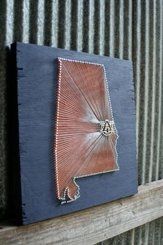 War Eagle // Reclaimed Wood Nail and String Tribute to by cwrought, $125.00