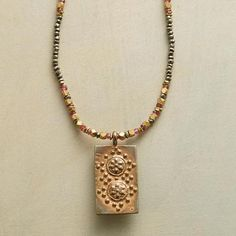 Warm colored necklace for summer